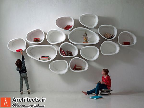 خلاقیت : قفسه های دیواری مدولار