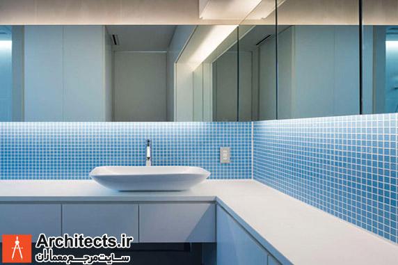 طراحی و دکوراسیون داخلی سرویس بهداشتی با رنگ آبی : 7 ایده