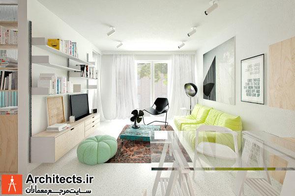 معماری داخلی چند آپارتمان با مساحت کمتر از 50 مترمربع