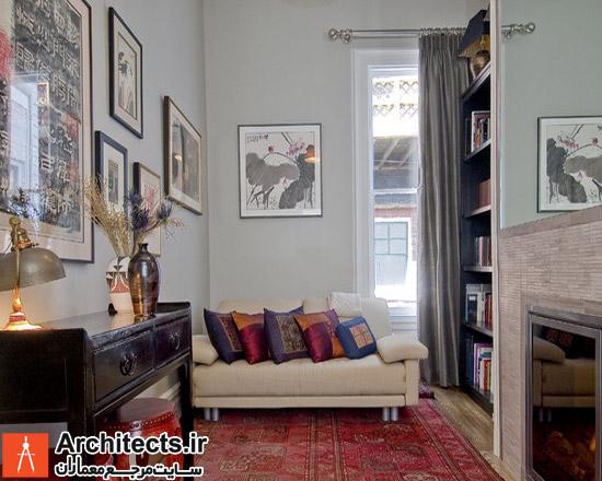 استفاده از فرش ایرانی در طراحی دکوراسیون داخلی اتاق مطالعه