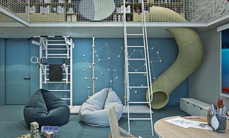 طراحی داخلی آپارتمانی سرزنده، شاداب و مناسب روحیات کودکان