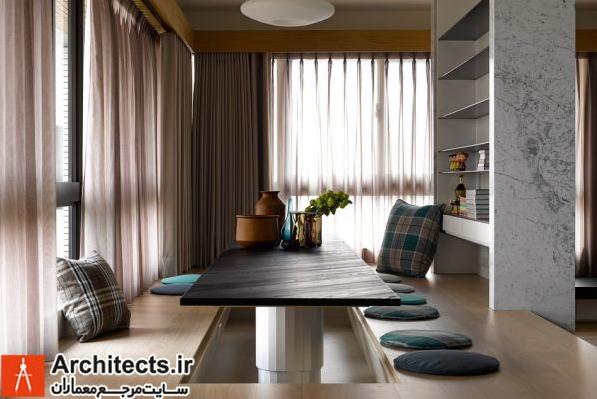 طراحی داخلی غیر متعارف با مبلمان سفارشی
