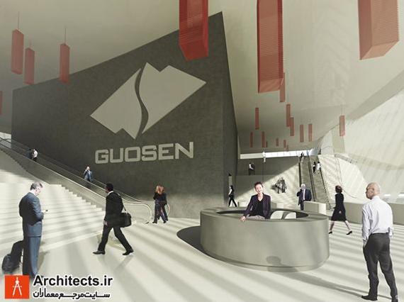 طراحی برج بازار بورس Guosen