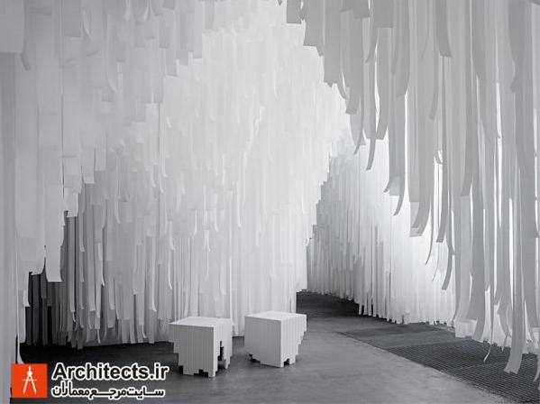 طرح زیبای غرفه میلان با متریال سبک و ارزان